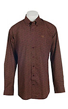 Cinch Men's Burgundy Paisley Print L/S Western Shirt