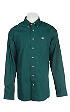 Cinch Men's Solid Forest L/S Western Shirt