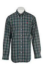 Cinch Men's Forest Plaid L/S Western Shirt