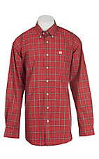 Cinch Men's Red Plaid L/S Western Shirt