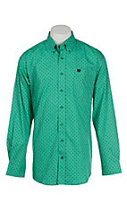 Cinch Men's Green Print L/S Western Shirt