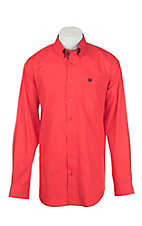 Cinch Men's Red Long Sleeve Western Shirt
