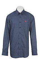 Cinch Men's Navy Circle Print Long Sleeve Western Shirt