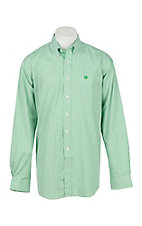 Cinch Men's Green Stripe  Long Sleeve Western Shirt 1104407