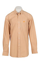 Cinch Men's Orange Checkered Long Sleeve Western Shirt 1104409