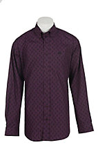 Cinch Men's Purple Paisley Long Sleeve Western Shirt 1104411