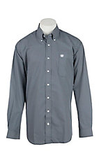 Cinch Men's Navy with White Dots Long Sleeve Western Shirt