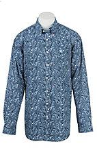 Cinch Men's Blue Paisley Long Sleeve Western Shirt