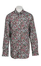 Cinch Men's Grey Paisley Long Sleeve Western Shirt