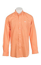 Cinch Men's Coral & White Diamond Print L/S Western Shirt