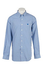 Cinch Men's Blue and White Stripe Long Sleeve Western Shirt