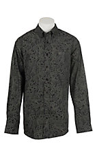 Cinch Men's Black Paisley Print Western Shirt