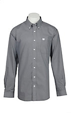 Cinch Men's Black & Grey Half Circle Print L/S Western Shirt