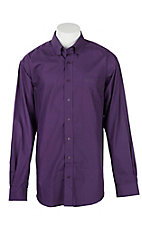 Cinch Men's Purple Spec Print L/S Western Shirt