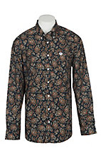 Cinch Men's Navy Paisley Print L/S Western Shirt