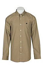 Cinch Men's Khaki Print L/S Western Shirt
