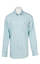 Cinch Men's Mint and White Stripe L/S Western Shirt