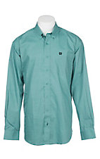 Cinch Men's Mint Fancy Grid Print L/S Western Shirt