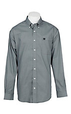 Cinch Men's Grey Circle Print L/S Western Shirt