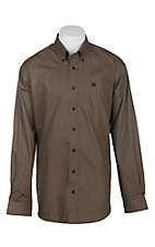 Cinch Men's Brown Circle Print L/S Western Shirt