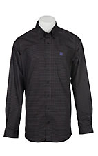 Cinch Men's Black Square and Dot Print L/S Western Shirt