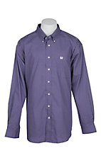 Cinch Men's Purple Square Print L/S Western Shirt