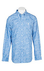 Cinch Men's Royal Blue Paisley L/S Western Shirt