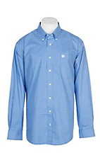 Cinch Men's Royal Blue Triangle Print L/S Western Shirt
