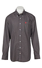 Cinch Men's Black Geo Print L/S Western Shirt