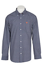 Cinch Men's Navy Geo Print L/S Western Shirt