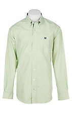 Cinch Men's Light Green Striped L/S Western Shirt