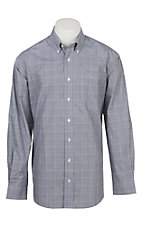 Cinch Men's Black, White, and Lilac Houndstooth Plaid Western Button Down Shirt