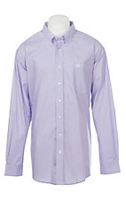 Cinch Men's Lilac Long Sleeve Geo Print Western Shirt