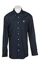 Cinch Men's Solid Navy L/S Western Shirt
