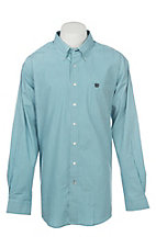 Cinch Men's Blue Striped Long Sleeve Western Shirt