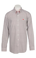Cinch Men's Red, White, and Black Geometric Print Western Button Down Shirt