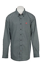 Cinch Men's Black Geo Print Western Button Down Shirt