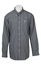 Cinch Men's Navy Blue Checkered Western Shirt