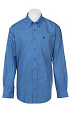 Cinch Men's Blue Geo Print Long Sleeve Western Shirt