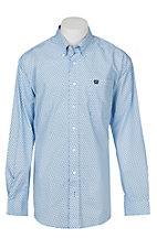 Cinch Men's Light Blue Print Western Shirt