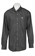 Cinch Men's Grey Mini Geometric Print Western Button Down Shirt