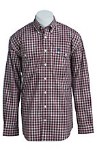 Cinch Men's Cream and Pink Plaid Western Shirt