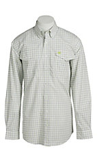 Cinch Men's White Windowpane Western Shirt
