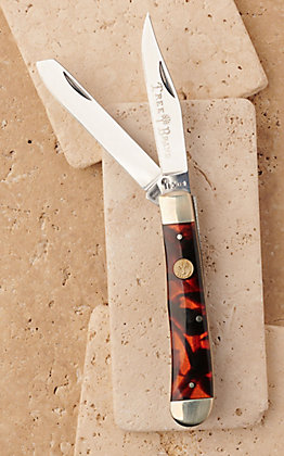 Tree Brand by Boker Traditional Series Faux Tortoise Handle Trapper Pocket Knife