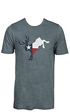 Men's Teal Texas Flag Jackalope Short Sleeve T-Shirt