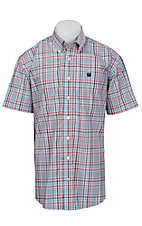 Cinch S/S Mens Fine Weave Shirt 1111132