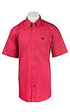 Cinch Men's Solid Pink S/S Shirt