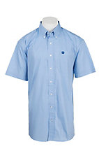 Cinch Men's Light Blue Print Short Sleeve Western Shirt