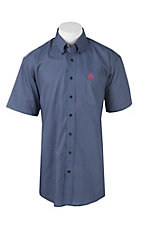Cinch Men's Navy Circle Print Short Sleeve Western Shirt