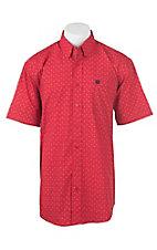 Cinch Men's Red Zig Zag Print Short Sleeve Western Shirt